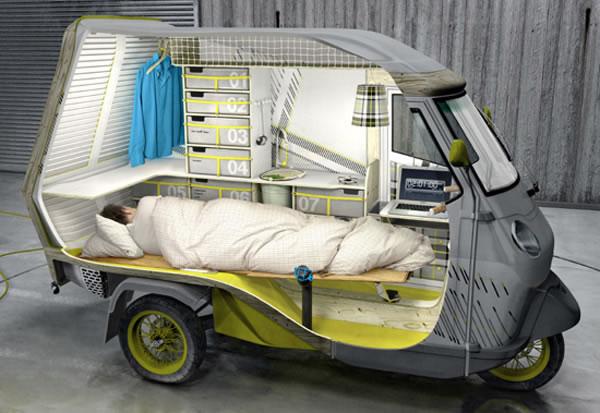 キャンピングカーをモバイルハウスにして暮らしたい