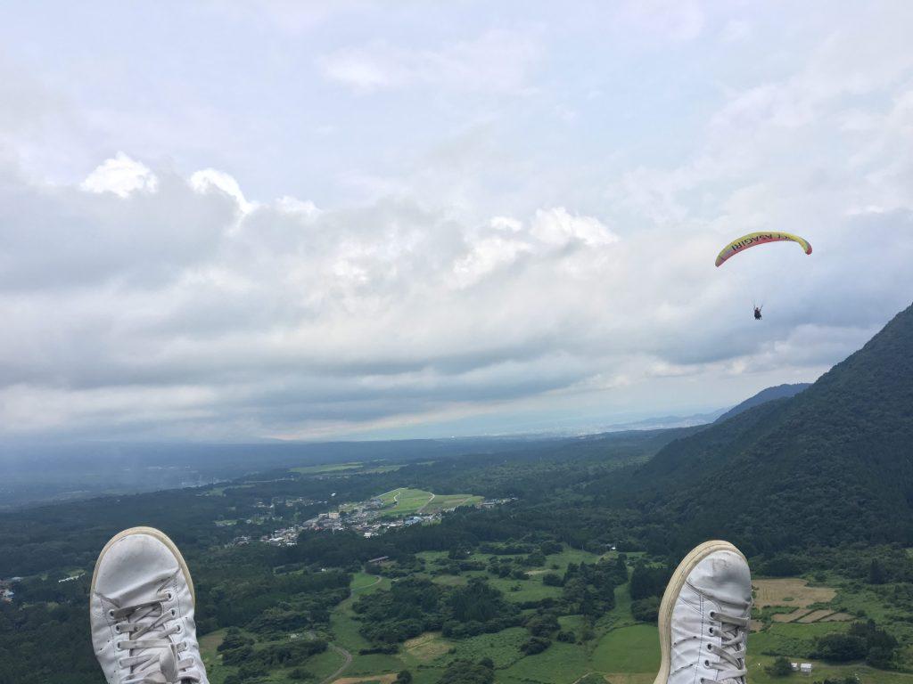 パラグライダーからの景色