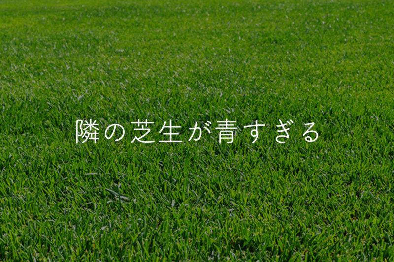 隣の芝生が青く見える!嫉妬を感じた時の正しい対処法