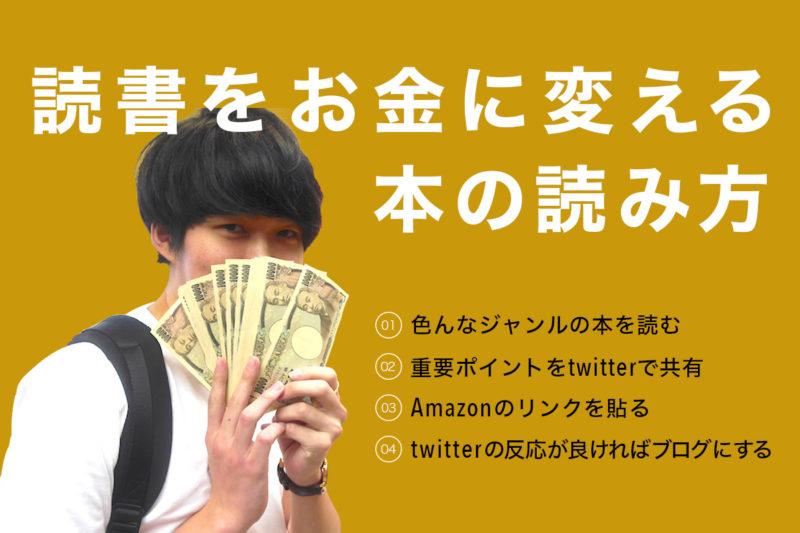 「読書」を「お金」に変える。 八木仁平流本の読み方4ステップ