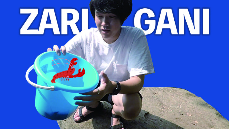 【動画】24歳、ザリガニ釣りに熱狂する