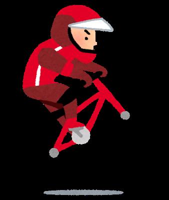 オリンピックのイラスト BMX